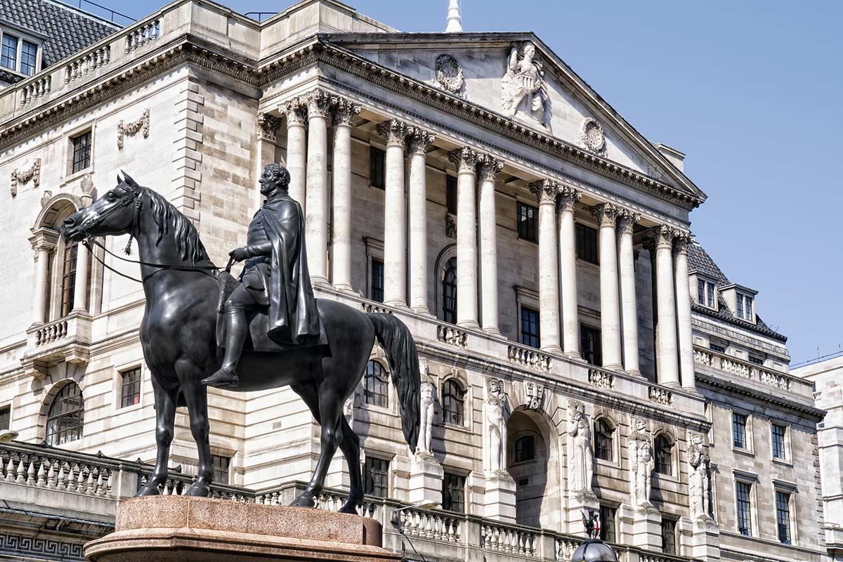 Bank of England in London UK